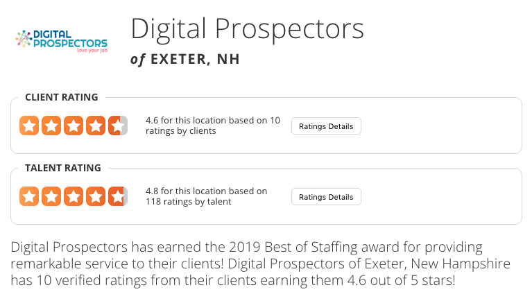 Also, we want to thank the Boston Business Journal for this recognition. See our other accolades that we have earned recently! We love our jobs and think you should too! Click the buttons below to learn more.