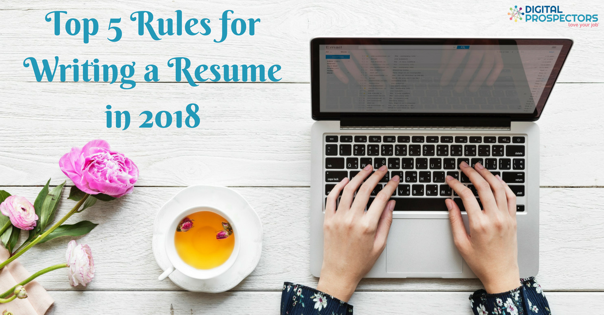 rules for writing a resumes